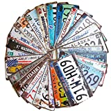 24 Pieces Assorted Retro Vintage Number Tags, Embossed License Plates, Home Wall Automobile Bar Garage Man Cave Decoration, 6x12 inch / 15x30cm