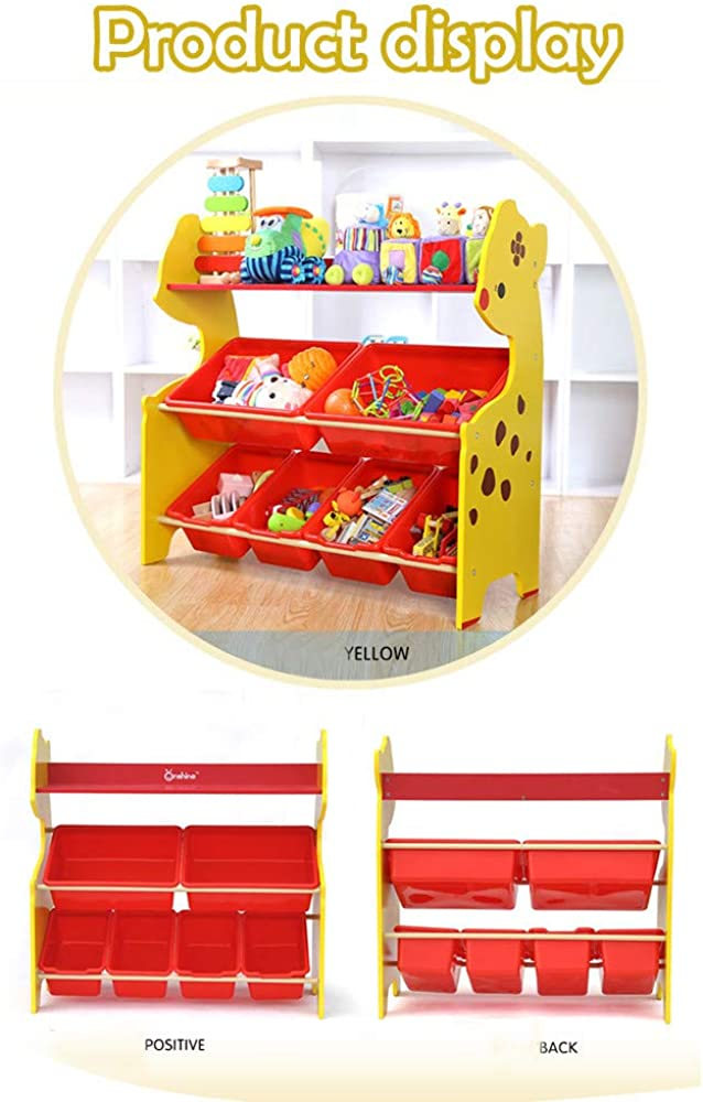 Toddlers Toy Storage Organizer with 6 Plastic Shelf Drawer for Kids Playroom Storage Box Shelf Drawer Pstars Kids Toy Storage Organizer with Plastic Bins US Stock