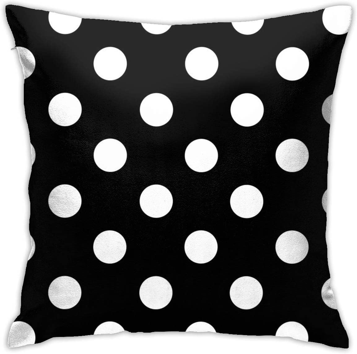 Amazon Com Antvinoler Black White Bohemian Polka Dot Pillows Case Soft Throw Pillow Double Sided Digital Printing Couch Pillowcase Square 45cm45cm Home Kitchen