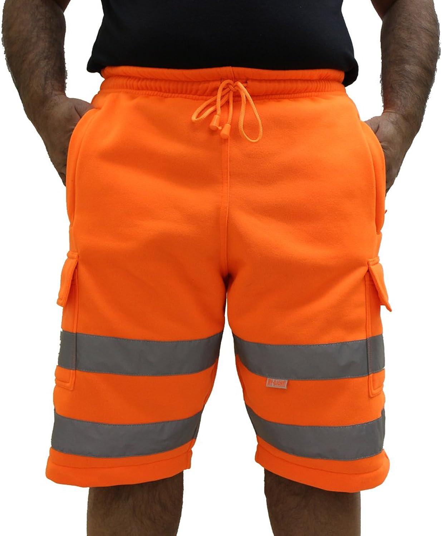 2 Side Zipped Pockets Conforms to EN471 Class 1 By Brook Hi Vis, Hi Vis Orange Combat Shorts 2 Thigh Pockets /& 1 Rear Pocket
