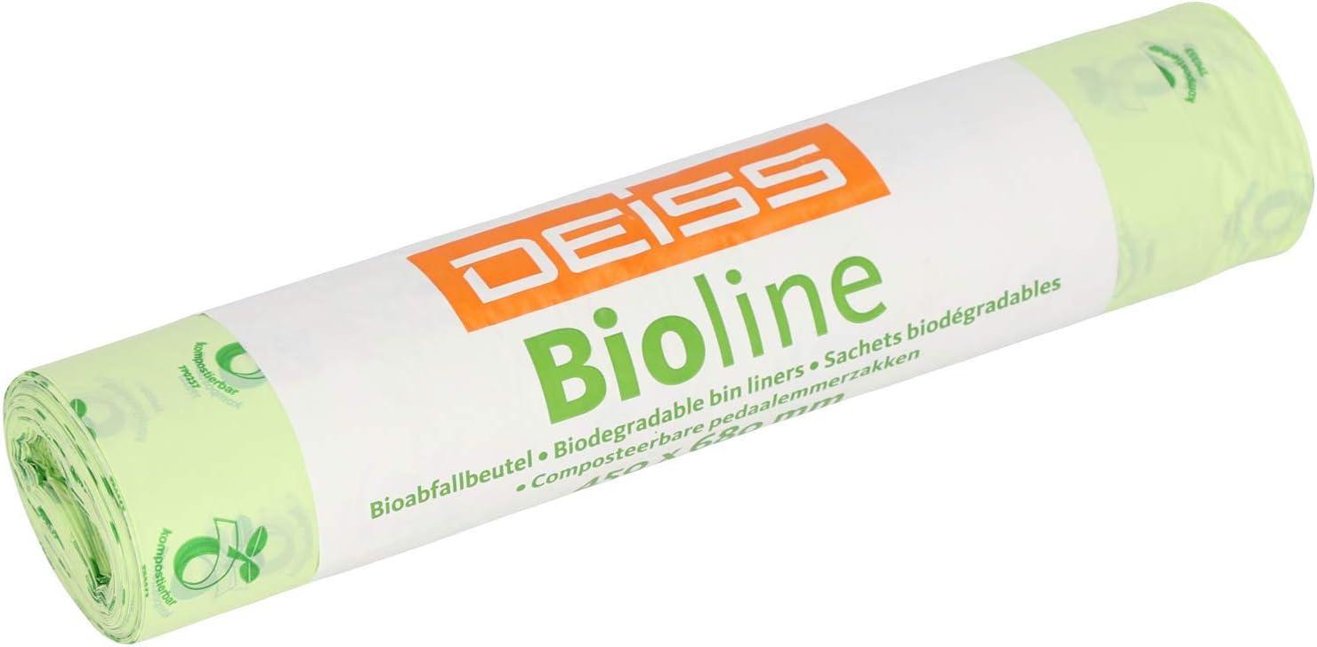 deiss 06030 Bolsa de basura biológica, Compostable, 25 L (500 ...