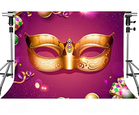 Amazon com : MEETSIOY Golden Mask Backdrops for Photography