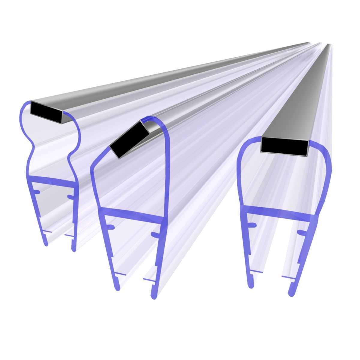 STEIGNER Kit de Joints Magn/étiques pour les Vitres d/'une /Épaisseur 3,5 mm//4 mm//5 mm UKM01 180/° 180 cm 2 pi/éces