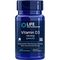 Life Extension Vitamin D3, 5000 IU, 60 Softgels, 60ct (Package May Vary)