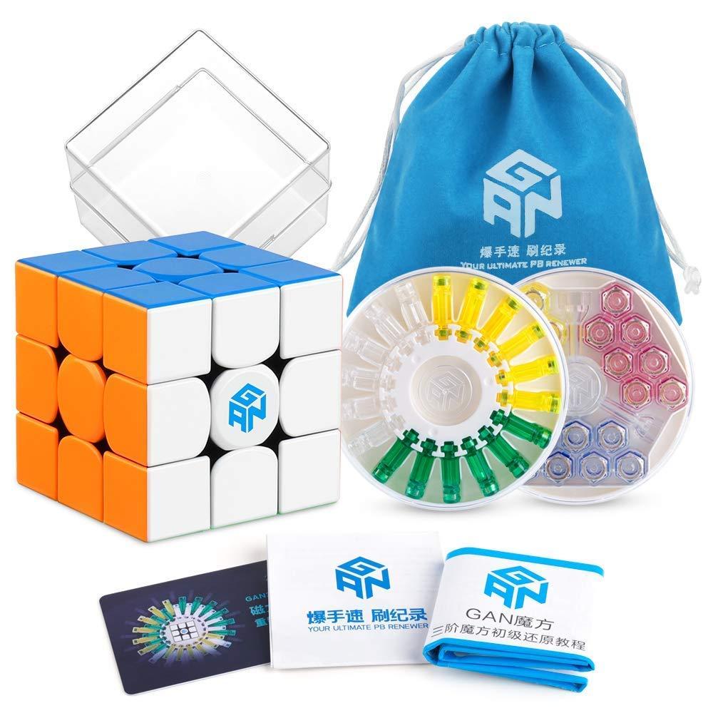 Coogam Gan 356X Cubo di velocità 3x3 Stickerless Gans 356 X Magnetico Puzzle Cubo 3x3x3 Cubo Magico Senza Adesivo (Versione IPG V5)