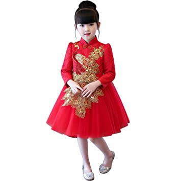 Robe rouge fete fille