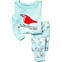 Elonglin Boys' Pyjamas Set, Cotton Long Sleeve Printed Pajama Sets PJs Sleepwear Thermal Underwear