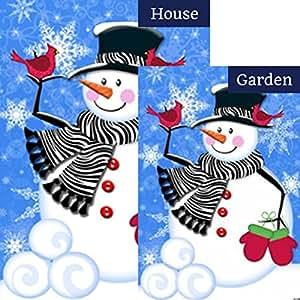Bufanda diversión caprichosos Snowman cebra vacaciones de invierno jardín bandera de la bandera