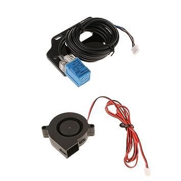 MagiDeal Sensor de Posición de Nivelación Automática con Ventiladores Turbo de Refrigeración Extrusor Para Impresora 3D