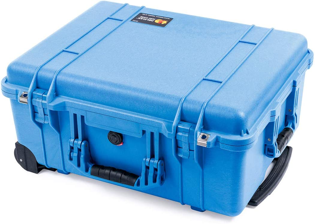 Pelican 1560 Blue Case with Grey CVPKG Dividers and Mesh Lid Organizer