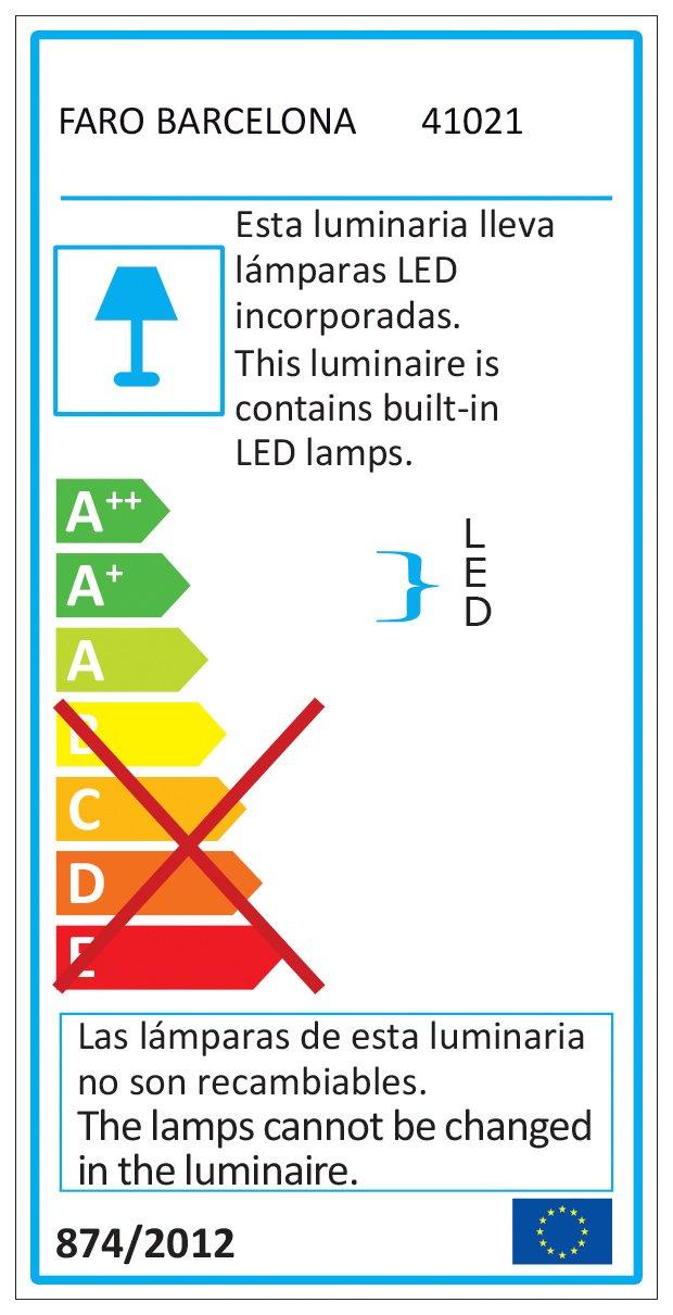 projecteur-barcelona Loke 41021/Loke Zange wei/ß LED 3/W 3000/K 30//°