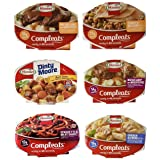 Hormel Compleats Meals - Variety Flavors (6 Count - 7.5 to 10 Ounce Microwavable Bowls) - Beef Stew, Meatloaf, Roast Beef, Sp