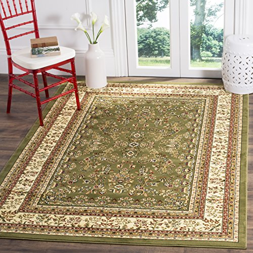 Safavieh Lyndhurst Collection LNH331C Traditional Oriental Sage and Ivory Area Rug (8' x 11') - Green Gold Area Rug