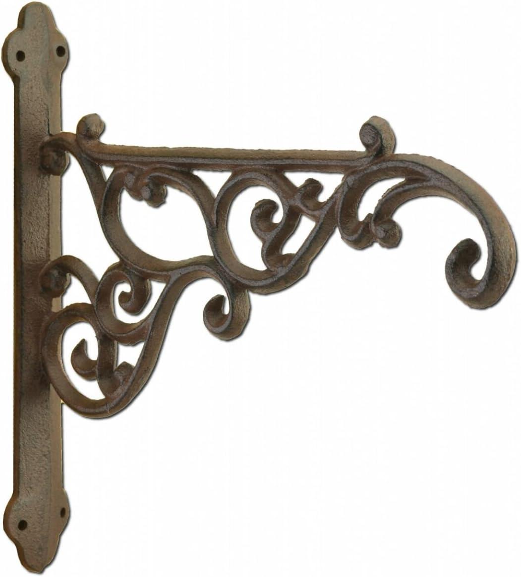 """Dark Brown 17/"""" Metal Cast Iron Hummingbird Plant Hanger /""""S/"""" Hook"""