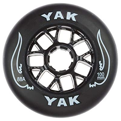 Yak 100mm x 88a Toro Inline Race/Scooter Wheel, 16 Wheels (Black on Black) : Sports & Outdoors