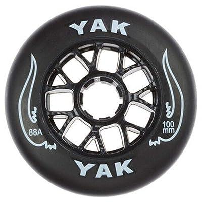 Yak 100mm x 88a Toro Inline Race/Scooter Wheel, 16 Wheels (Black on Black) : Sports & Outdoors