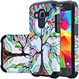 Galaxy Core Prime Case, Samsung Galaxy Core Prime [Shock Absorption / Impact Resistant] Hybrid Dual Layer Armor Defender Protective Case Cover for Galaxy Core Prime Case, (Colorful Tree Hybrid)