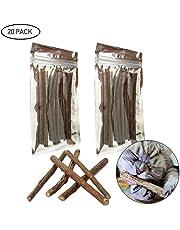 Catnip Sticks - Cat Chew Sticks Dental Cleaning for Cats 100% Organic Silver Vine, 20 Pcs Or 40 Pcs