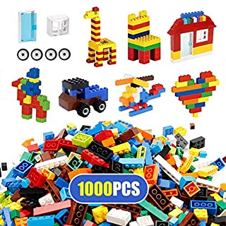 WYSWYG Building Blocks Set 1000 Pieces for Kids , Colorful Building Bricks with Wheels, Windows, and Doors, Stackable Universal Compatibility, STEM Early Learning and Creativity, BPA Free Plastic