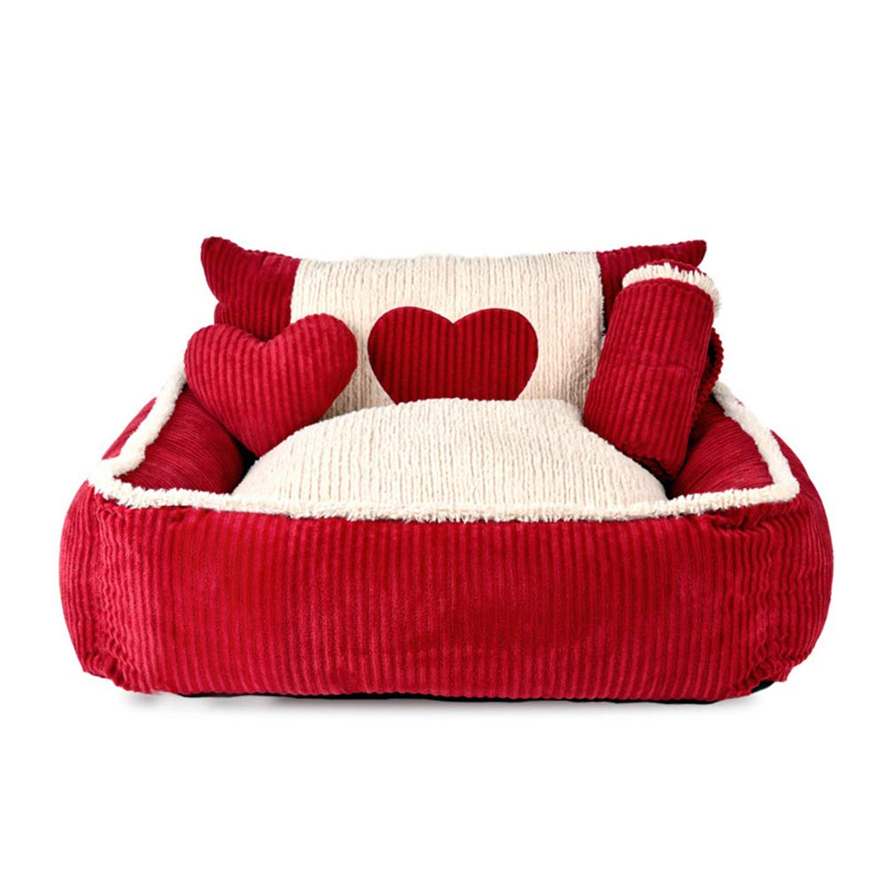Dog Bed, Super Soft Pet Sofa Cats Bed Non Slip Bottom Pet Lounger Self Warming and Breathable Pet Bed Premium Bedding,L by CLLX
