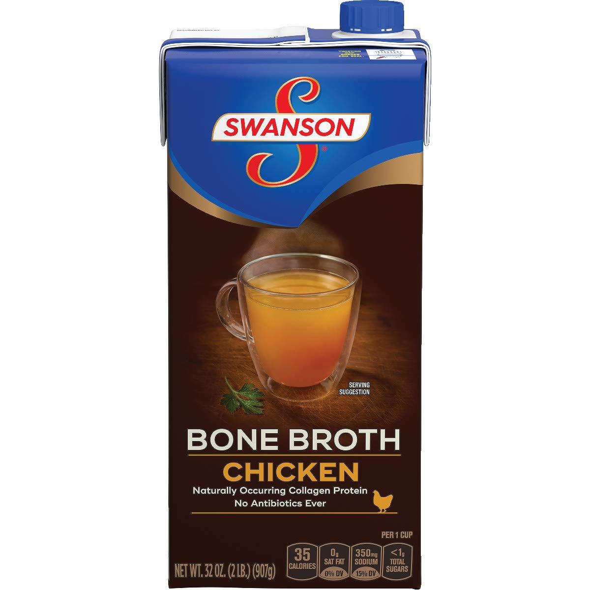 Swanson Chicken Bone Broth, 32 oz. Carton