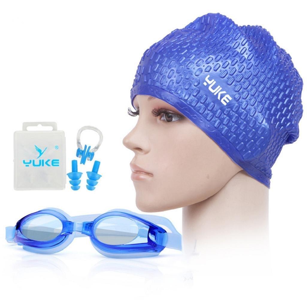 Livecity silicone impermeabile occhialini da nuoto tappi per le orecchie naso clip set unisex adulto