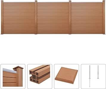 WPC - Juego de Vallas (3 Unidades, 53 x 187 cm), Color marrón: Amazon.es: Electrónica