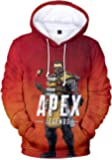 Pandolah メンズ プルオーバー スウェット 3Dプリント ゲームロゴ APEX LEGENDS エーペックスレジェンズ キャラクター 長袖