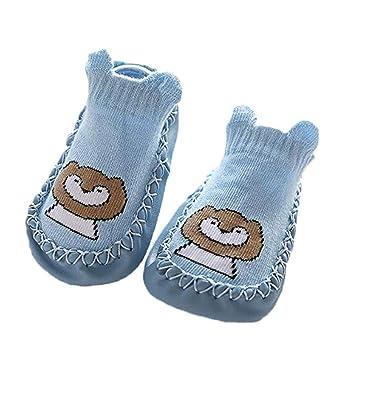 Amazon.com | Happyear 1 Pair Todder Baby Boy Girl Cotton Moccasins Anti-Slip Slipper Floor Socks Shoes Slippers | Slippers