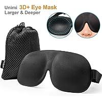 Schlafmaske f¨¹r Damen & Herren, UNIMI 3D PLUS Geformte Augenmaske, Augenabdeckung Schlafmaske & Augenbinde, mehr Platz f¨¹r die Augen, festere Passform auf Ihrer Nase