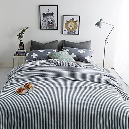 Usual Joy 3 Piece Duvet Cover Set Twin with 2 Pillow Shams -