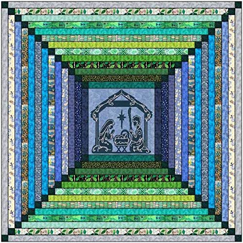 Quilt Kit Christmas Miracle and Bright Tonal Strip Quilt//Beginner