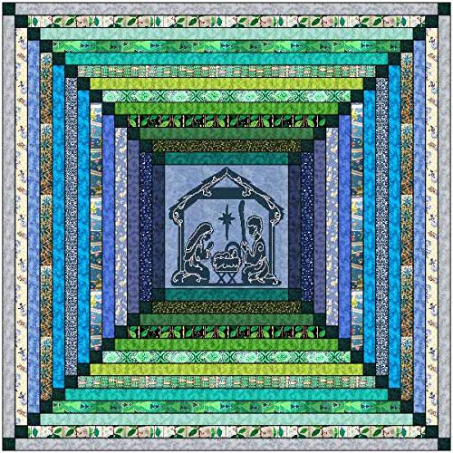 Quilt Kit Christmas Miracle and Bright Tonal Strip Quilt/Beginner