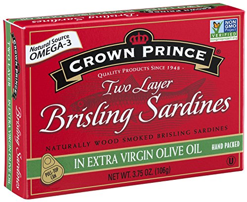 (Crown Prince Two Layer Brisling Sardines in Extra Virgin Olive Oil, 3.75-Ounce Cans (Pack of 12))