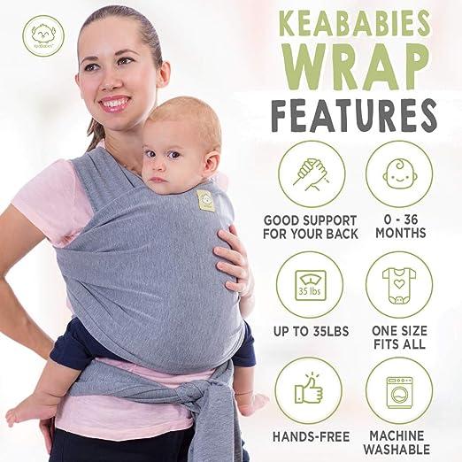Amazon.com: Envoltorio para bebé todo en 1 elástico Ergo ...