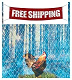 USA Premium Store 15' x 30' POULTRY NETTING GAME BIRD PHEASANT NET AVIARY NETS 2'' #208 Lightweight