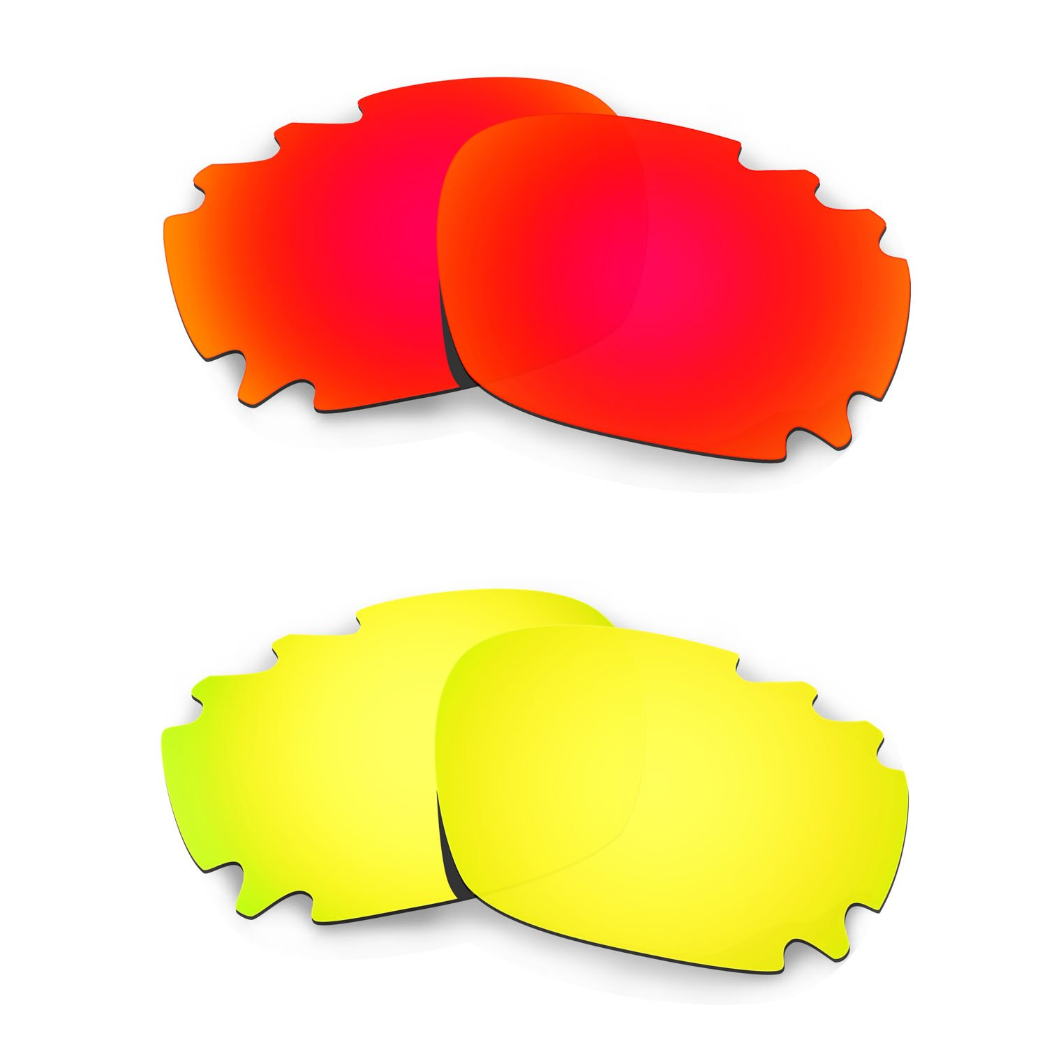 Hkuco Mens Replacement Lenses For Oakley Jawbone (Asian Fit) Vented - 2 pair