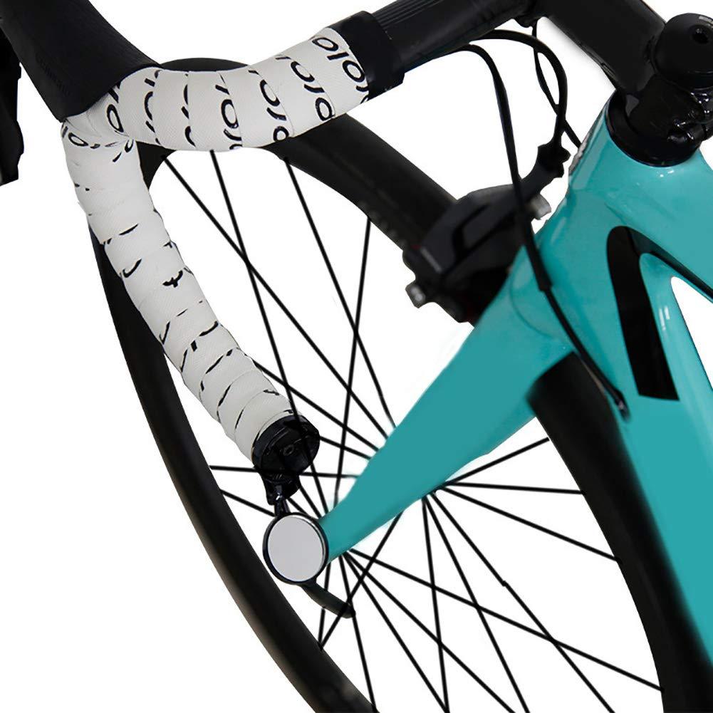 Denret3rgu Rennrad Mountainbike Radfahren Einstellbare Fahrradlenker Stecker R/ückspiegel Schwarz