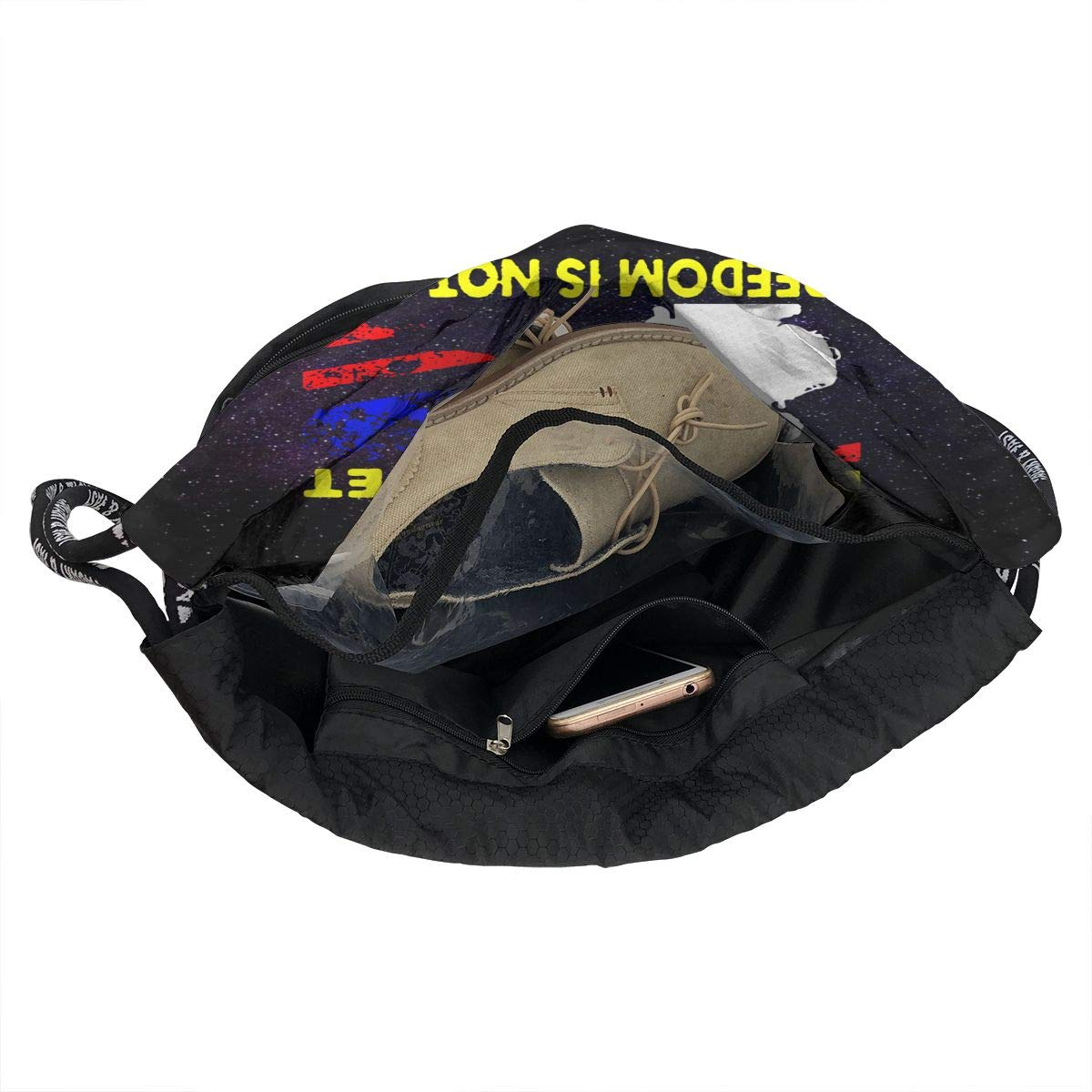 SG0HGO Drawstring Pack Veteran Day Never Forget Men and Women Yoga Dance Travel Rucksack Shoulder Bags