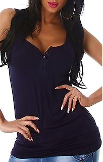55d5fc33f1 Voyelles - Camiseta sin Mangas - Liso - Sin Mangas - para Mujer