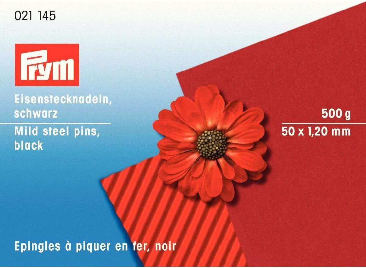 Prym 021145 /Épingles /à /épingles en fer Noir 1,20 x 50 mm 50 x 1,2 mm