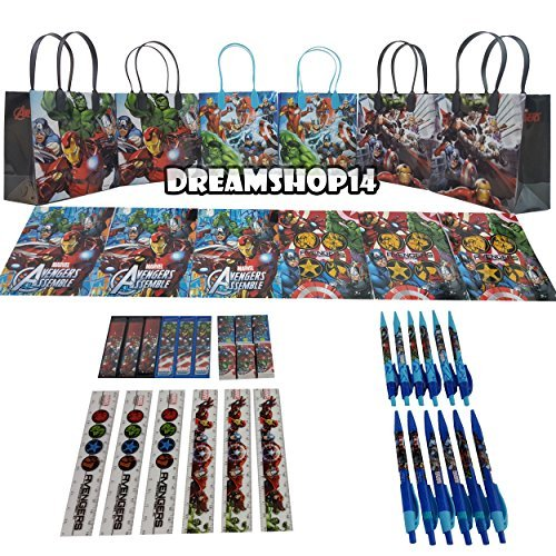 Avengers Goody Bag Stationery Party Favor Set 42Pc. (6 Sets) by Dreamshop14 (Avengers Party Favours)