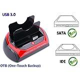 "Ronsen 875U Hard Disk Drive Docking Station - USB 3.0 Dual Port per Disco Rigido 2.5""/3.5"" IDE e SATA I/II HDD SSD"
