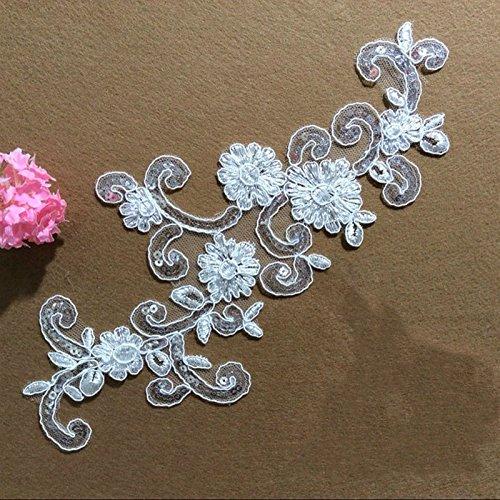 ivory alencon lace wedding dress - 6