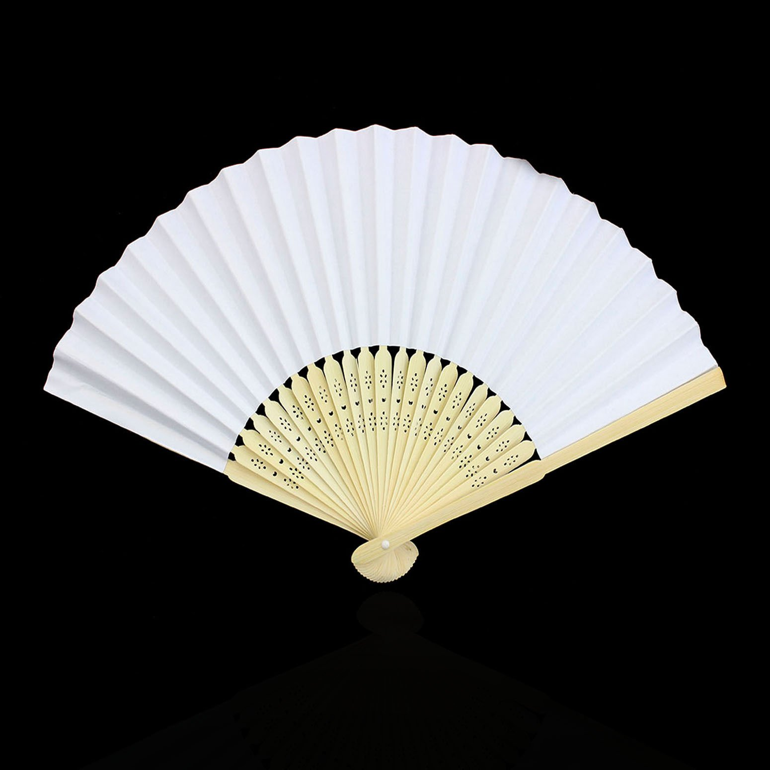 Solid Hand Paper Spanish Style Dance Wedding Party Lace Silk Folding Hand Held Flower Fan