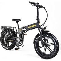 """GDSEBIKE Electric Bike for Adults 20"""" ebike Full Suspension 750W Motor Fat Tire Electric Bike Mountain Beach Snow Bike…"""