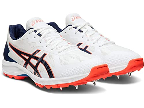 junio Que agradable Gaseoso  Buy ASICS Men's Strike Rate Ff Batting & Fielding Cricket Spike Shoes  Leather at Amazon.in