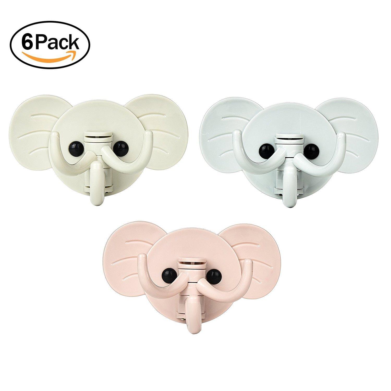 Good 6pcs Self Adhesive Hooks Cloth Hanger Decorative Wall Hooks