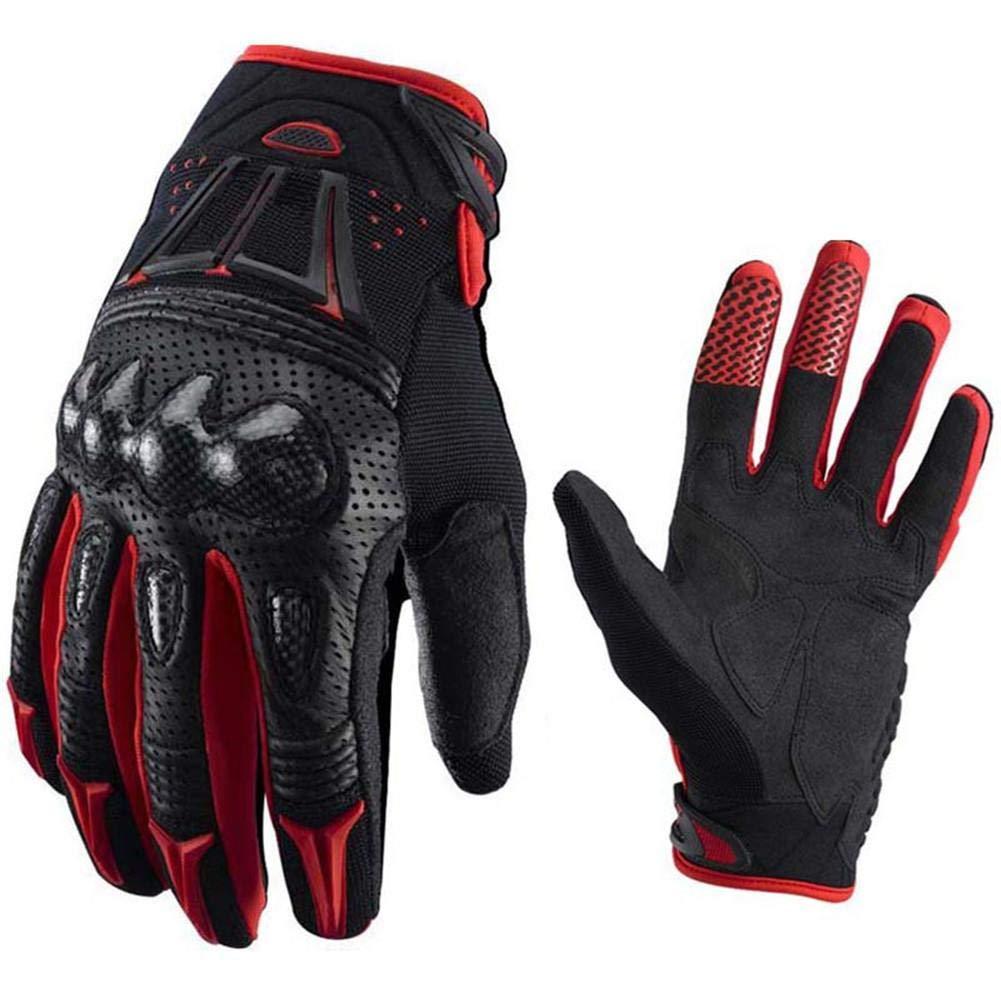 Rojo XL Wovemster Dedo Completo para Hombre de Guantes T/ácticos Para Motocicleta con Respaldo Acolchado Adecuado para Deportes al Aire Libre Motocicleta de Knight