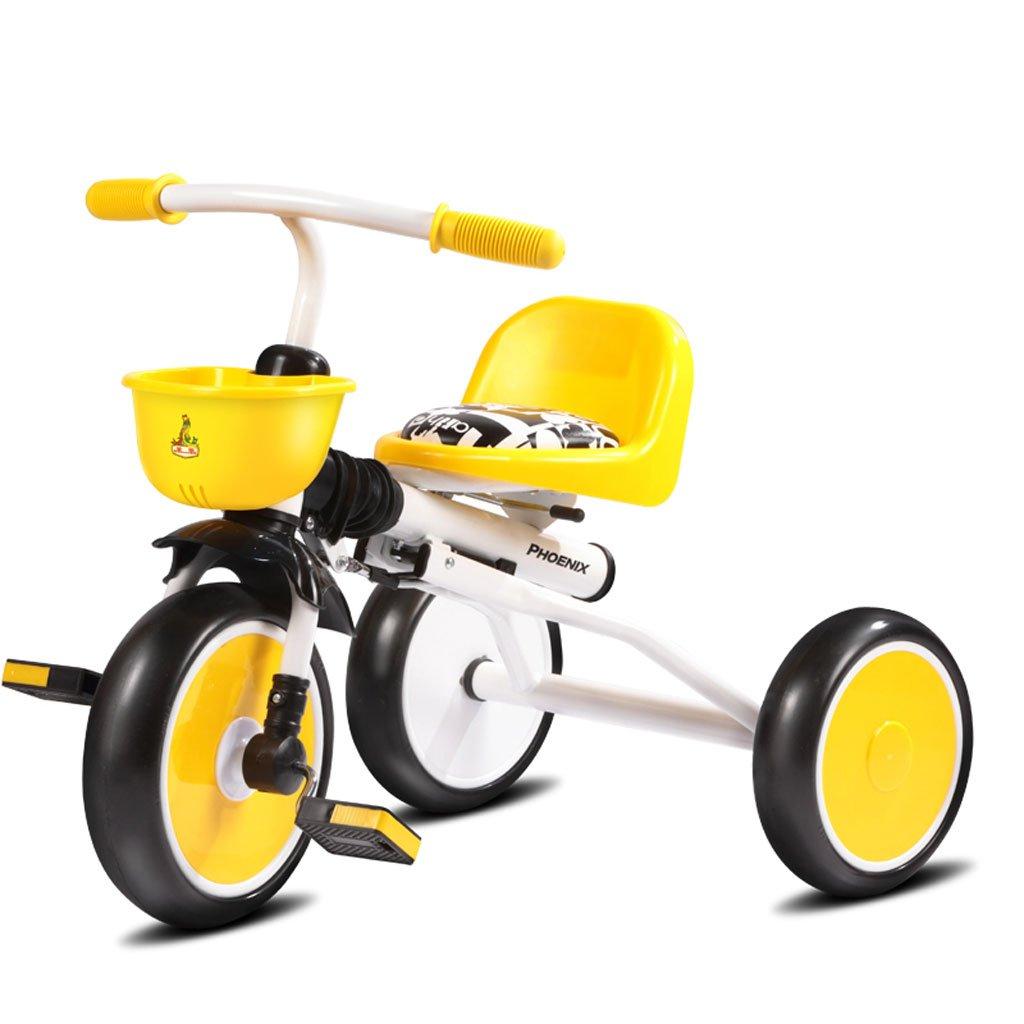 子供の三輪車高炭素鋼キッズ自転車の赤ちゃん1-3折りたたみ自転車赤ちゃん、白/黒、70 * 34 * 50センチメートル (Color : White) B07CV87BPT